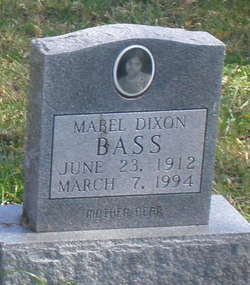 Mabel <i>Dixon</i> Bass