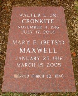 Mary Elizabeth Betsy <i>Maxwell</i> Cronkite
