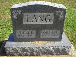 Emily Louisa Lou <i>Paddock</i> Lang