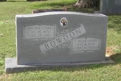 J. Thomas <i>James</i> Bowden