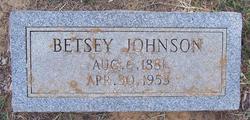 Betsy <i>Harold</i> Johnson