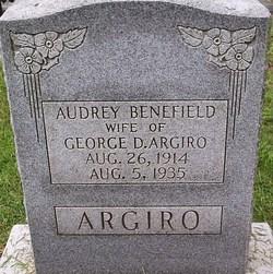 Audrey <i>Benefield</i> Argiro