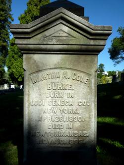 Martha A. <i>Cole</i> Burke