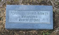 Persis <i>Fulford</i> Bowen