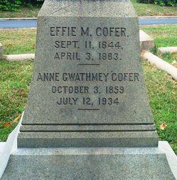 Anne <i>Gwathmey</i> Cofer
