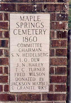 Maple Springs Cemetery