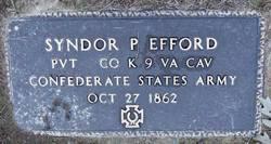 Pvt Syndor P. Efford