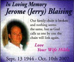 Jerome Jerry Blaising