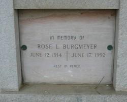 Rose L <i>Spinelli</i> Burgmeyer