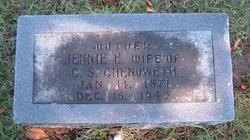 Eliza Jane Jennie <i>Evans</i> Chenoweth