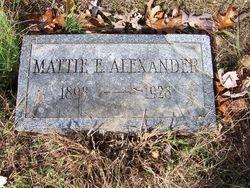 Mattie E <i>Lightcap</i> Alexander