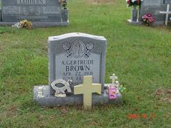 A. Gertrude <i>Hollingsworth</i> Brown