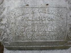 Sarah Walker <i>Pemberton</i> Baer