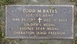 Sgt Todd Michael Bates