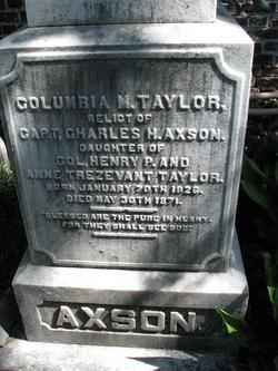 Columbia M <i>Taylor</i> Axson