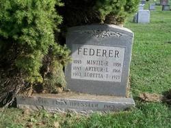 Mintie Arminta R. <i>White</i> Federer