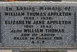 Elizabeth Jane <i>Traill</i> Appleton