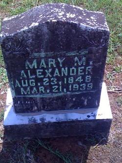 Mary M <i>Easley</i> Alexander