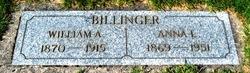Anna L <i>Sparks</i> Billinger