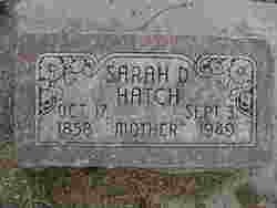Sarah D Hatch