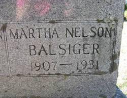Martha Olive <i>Nelson</i> Balsiger