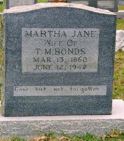 Martha Jane <i>Curtis</i> Bonds