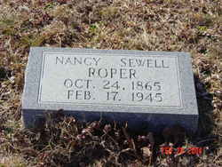 Nancy Elizabeth <i>Sewell</i> Roper