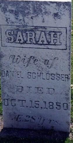 Sarah <i>Richards</i> Schlosser