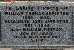 2nd Lt William Traill Appleton