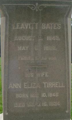 Ann Eliza <i>Tirrell</i> Bates