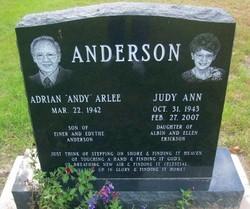 Judy Ann <i>Erickson</i> Anderson