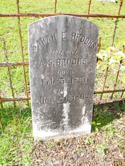 Sarah E <i>Hunter</i> Brooks
