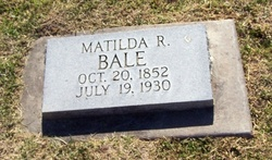 Matilda <i>Robinson</i> Bale