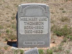 Mary Jane Mollie <i>Miller</i> Thomson
