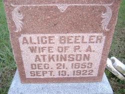 Alice <i>Beeler</i> Atkinson