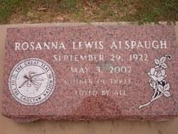 Rosanna <i>Lewis</i> Alspaugh