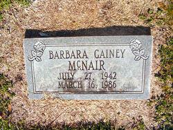 Barbara <i>Gainey</i> McNair