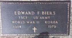 Edward F Biers
