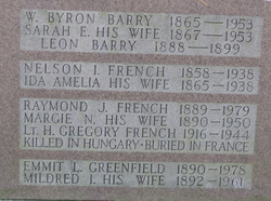 Lt Harold Gregory French