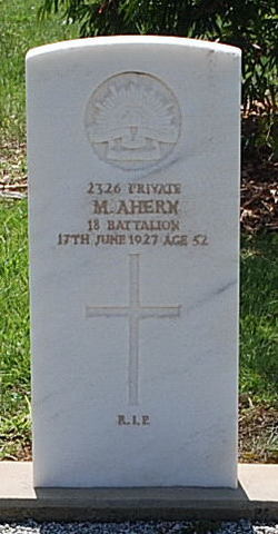 Pvt Maurice Ahern