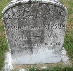 Marion W Atkerson