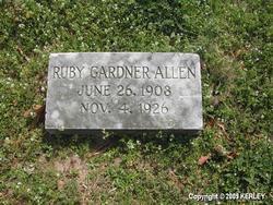 Ruby <i>Gardner</i> Allen