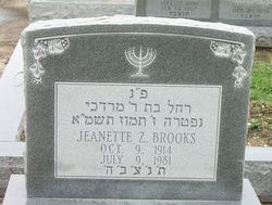 Jeanette <i>Zimmerman</i> Brooks