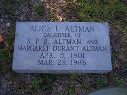 Alice L. Altman
