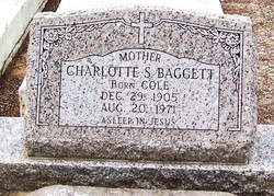 Charlotte S. Lottie <i>Cole</i> Baggett