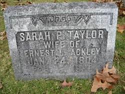Sarah Parke <i>Taylor</i> Ackley