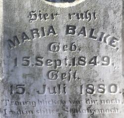Maria (Mary) <i>Schenck</i> Balke