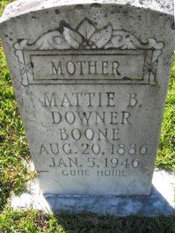 Mattie B. <i>Downer</i> Boone