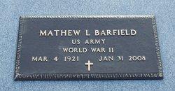 Matthew Lewis <i>Mac</i> Barfield
