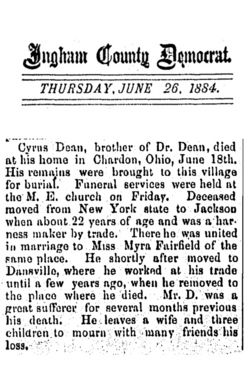 Dr Cyrus W Dean